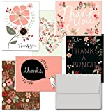 Thank You Potpourri - 36 Thank You Cards for $12.99 - 6 Designs - Blank Cards - Gray Envelopes Included
