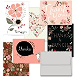 Thank You Potpourri - 36 Thank You Cards - 6 Designs - Blank Cards - Gray Envelopes Included