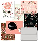 Office Products : Thank You Potpourri - 36 Thank You Cards - 6 Designs - Blank Cards - Gray Envelopes Included