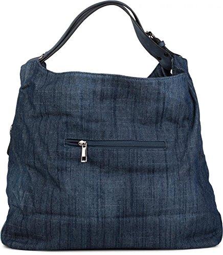 jean Bleu Bleu sac strass sac bandoulière Foncé en seau d'étoile shopper styleBREAKER couleur femme foncé strass clous en 02012085 en forme qwFHxTt1
