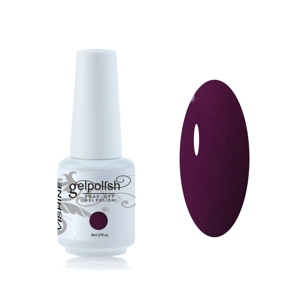 Vishine Vernis à ongles 8ml Semi-permanent Soak-off UV LED Nail Art Vernis Gels Manucure Darkslategray #1576