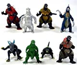 Godzilla Monsters 8 Action Toy Figure Figures Set by Happy Toys