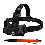 Nitecore HC60W CREE XM-L2 U2 LED Rechargeable Headlamp -Neutral White -1000 Lumens - Neutral White w/ 3400mAh 18650 battery