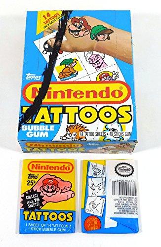 1989 Topps Nintendo Tattoos Box (48 Packs) ()