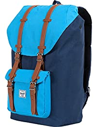 Little America Backpack, Navy/Cyan, One Size