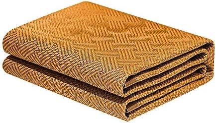 WJ 夏用スリーピングマット 炭化竹の睡眠マット、家庭用は折り畳み式の夏の籐マット氷の絹のマットを両面(2つのサイズ) /-/ (Size : 1.8x2.2m)
