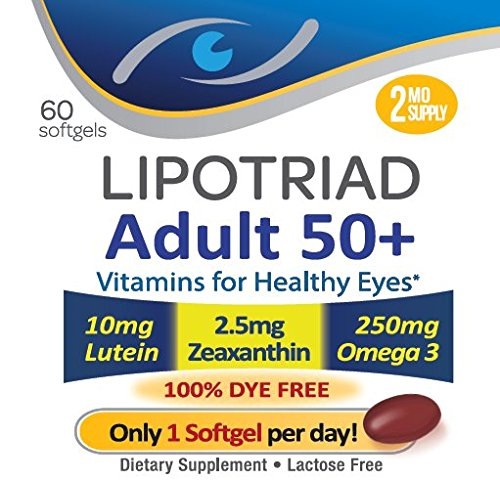 Lipotriad Adult 50+ Eye Vitamin & Mineral Supplement W/10Mg Lutein Zeaxanthin.. 2