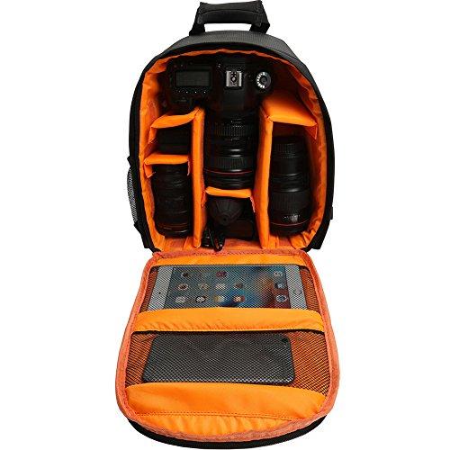 Connoworld - Mochila impermeable para cámara de fotos digital DSLR (acolchada, para Canon, Nikon, Lentes, Trípode y...