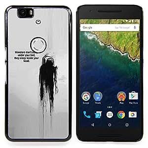 "Planetar ( Acuarela Cartel minimalista Blanca"" ) Huawei Google Nexus 6P Fundas Cover Cubre Hard Case Cover"