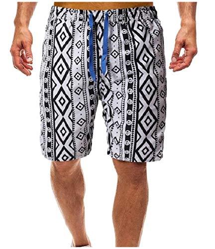 6af360fb7ab26 Winwinus Mens Plus Size Summer Board Shorts Waist Tie Baggy Beach Hot Pants  AS1 L