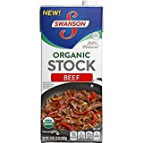 SWANSON, STOCK, OG2, BEEF, Pack of 12, Size 32 FZ - No Artificial Ingredients Gluten Free 95%+ Organic