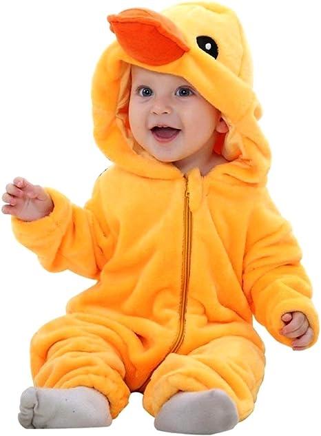 Disfraz de pato - felpa suave - forro polar - mono - mono de pato ...