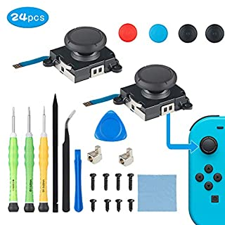 Aiworthy 2 Pack Analog 3D Joycon Joystick Replacement for Nintendo Switch