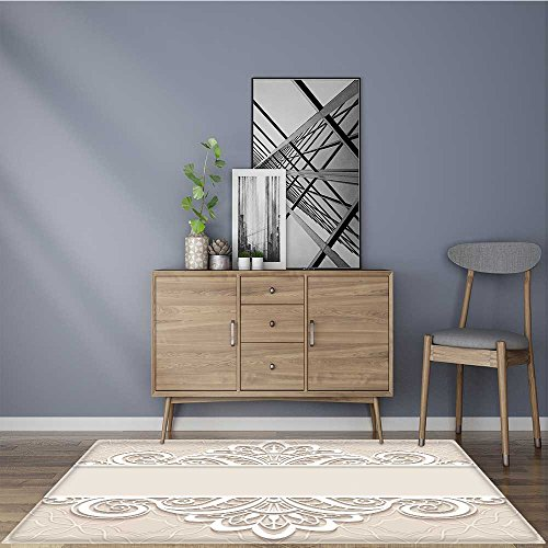 modern rugs elegant background with border lace ornament divider header decorative paper lace Resistant Contemporary Soft Plush Quality 2' X 4'