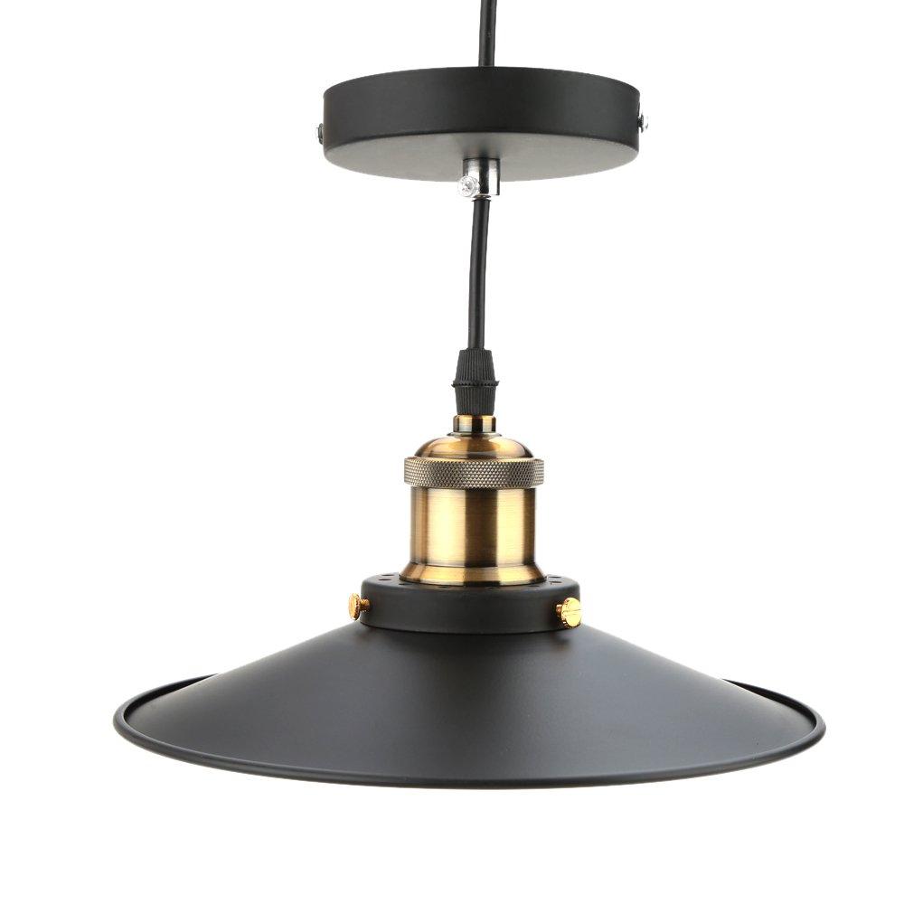Lixada Edelstahl Retro Lampe Pendel Leuchte Vintage Anhänger Licht ...
