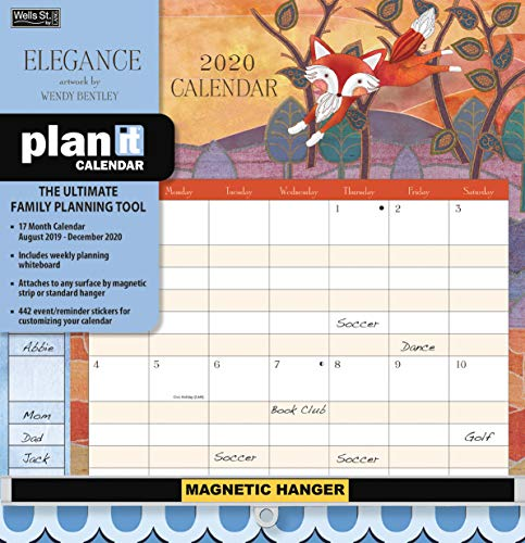 Wells Street by LANG WSBL Elegance 2020 Plan-It Plus (20997009170) Academic Wall Calendar (20997009170) (Family Plan It Calendar)