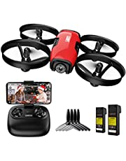 SANROCK Drone met camera voor kinderen, beginners, RC quadcopter met wifi, FPV-camera, U61W mini drone ondersteunt hoogte houden, routegeneratie, headless-modus, noodstopfunctie