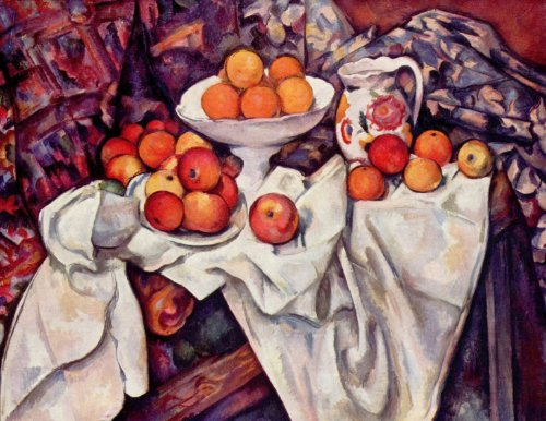 And Oranges Apples Cezanne - Paul Cézanne - Apples and Oranges, Size 24x32 inch, Poster Art Print Wall décor
