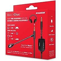 DreamGEAR BOOMCHATTM - Cable de Audio con micrófono, Color Negro y Plateado