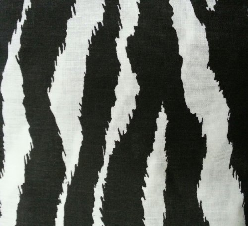 Twin Size Zebra Animal Print Canopy Top Fabric by The Furniture Cove
