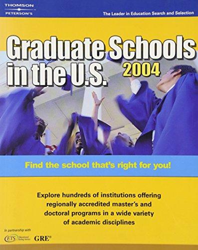 DecisionGuides Grad Sch in US 2004 (Peterson's Graduate Schools in the U.S)
