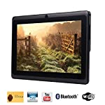 Tagital® 7'' Quad Core Android 4.4 KitKat Tablet PC, Bluetooth, Dual Camera, Netflix, Skype, 3D Game Supported (Black)