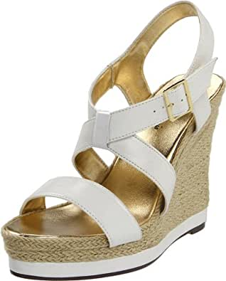 Michael Antonio Women's Galin Wedge Sandal,White,10 M US