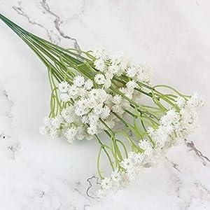 lasenersm 21 Pieces Artificial Baby's Breath Artificial Gypsophila Flowers Artificial Flowers DIY Home Garden Wedding Decoration White Pink Purple 4