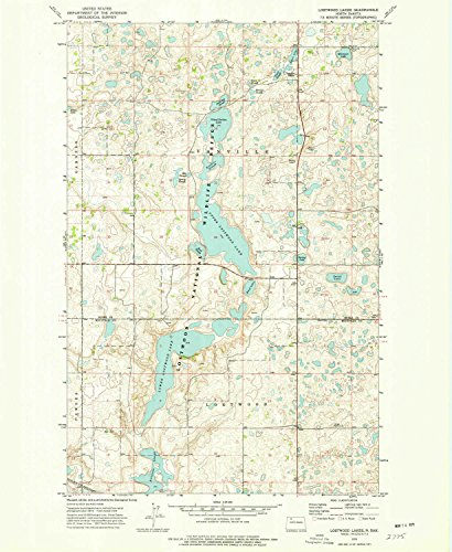 YellowMaps Lostwood Lakes ND topo map, 1:24000 scale, 7.5 X 7.5 Minute, Historical, 1974, updated 1977, 27 x 22.2 IN - Paper (Scale Eds)