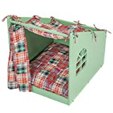 Favorite Wooden Pet House with Bed For Small/Medium Size Dogs/Cats Indoor Outdoor Review