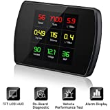 Car HUD Head Up Display with OBD2/EUOBD Interface Plug,EBTOOLS Universal HUD with Play Vehicle Speed KM/h MPH, OverSpeed Warning,Water Temperature, Battery Voltage, Mileage Measurement