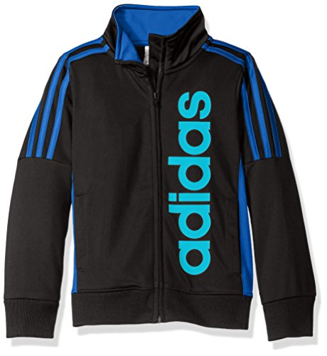 adidas Little Boys' Tiro and Tricot Jackets, Caviar Black, (Kids Tricot Jacket)