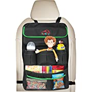 EPAuto Premium Car Backseat Organizer for Baby Travel Accessories, Kids Toy Storage, Back Seat Protector/Kick Mat