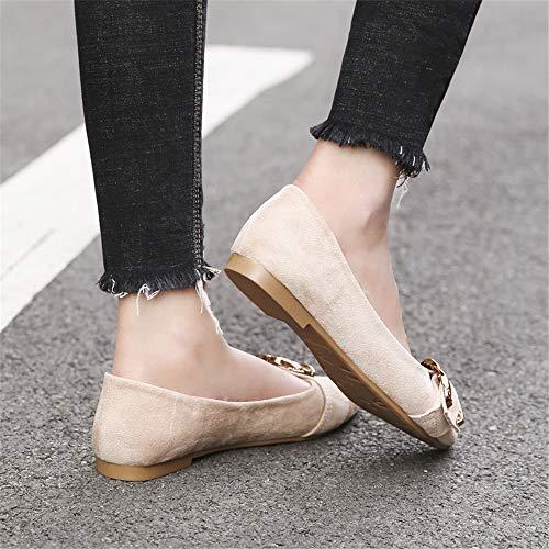 38 cómodos de de Zapatos Trabajo señora EU Zapatos EU de con Zapatos FLYRCX 35 Planos Punta Solos Antideslizantes Boca Baja pI4wqgU