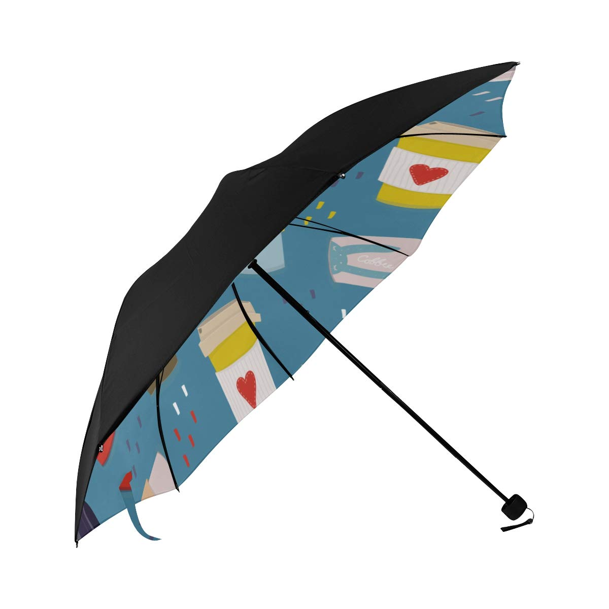 Water Glass Container Daily Necessities Compact Travel Umbrella Sun Parasol Anti Uv Foldable Umbrellas(underside Printing) As Best Present For Women Sun Uv Protection
