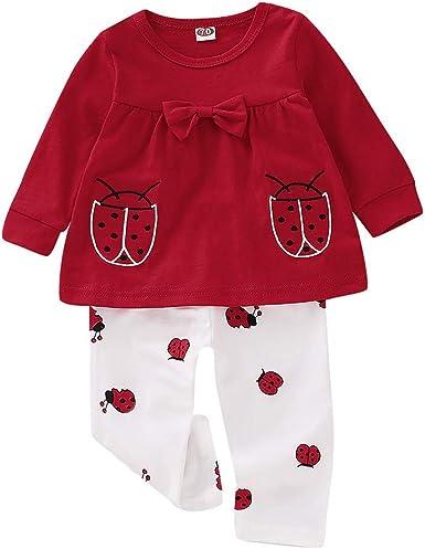 Amazon Com Konfa Ropa De Otono Invierno Para Ninas Y Bebes Con Lazo Pantalones Sueltos 2 Piezas Para Ninos De 0 A 24 Meses Clothing