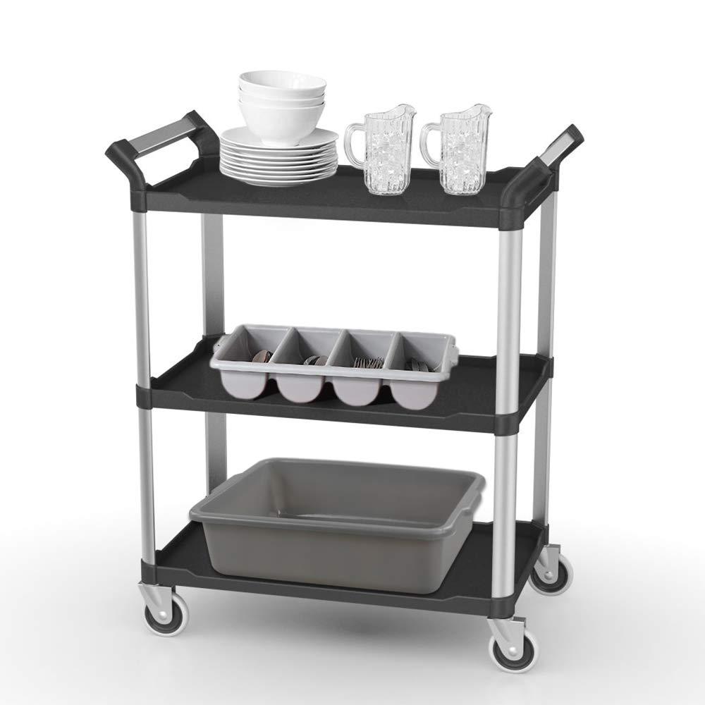 Dynko Bacinella in Plastica Nero e Grigio Set di 4 Piccole Vasche di Lavaggio