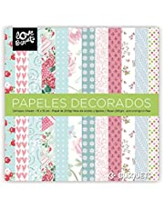 Busquets - Papeles Decorados Scrapbooking 15x15 Color: Multicolor
