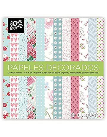 BUSQUETS - Papeles Decorados Scrapbooking 15x15 Color