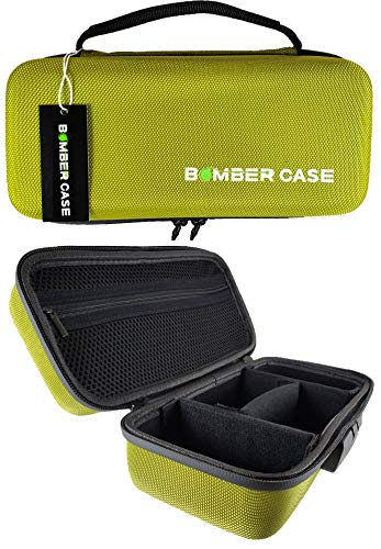 "BOMBER CASE - Combination Lock Box - Smell Proof Case - Stash Case - Customizable Padded Interior - Flexible Construction and Odor Proof Zipper with Combo Lock - Safe - 9.5"" x 4"" x 3.5"" - Green"