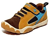 DADAWEN Kids Breathable Casual Outdoor Strap Running Shoes Athletic Sneakers (Toddler/Little Kid/Big Kid) Brown US Size 4 M Big Kid