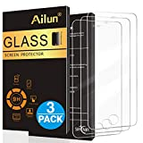 Ailun Screen Protector Compatible with iPhone 5S,iPhone SE iPhone 5,iPhone 5c[3Pack],2.5D Edge Tempered Glass Compatible...