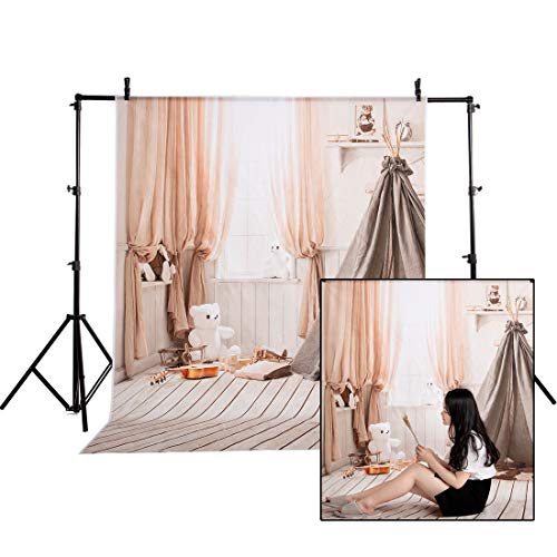 FUT Wooden Wall & Floor Photo Backdrops Backgrounds for Children Wedding Photo Studio Props(5x7ft)