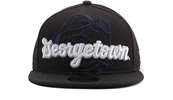 low priced e9ad0 73e81 New Era Georgetown Hoyas 59FIFTY Fitted Cap Hat Frontrunner (7 5 8, Navy  Blue) at Amazon Men s Clothing store