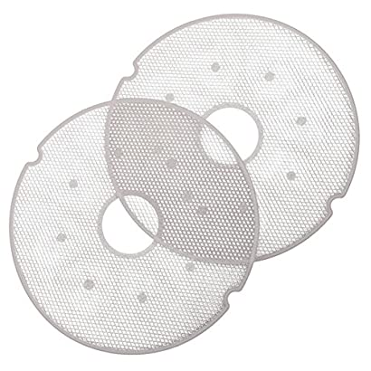 Nesco LM-2-6 Clean-A-Screen Tray for Dehydrators FD-28JX/FD-37/FD-60/FD-61/FD-61WHC/FD-75A and FD-75PR, Set of 2 51I4qs8Nk0L