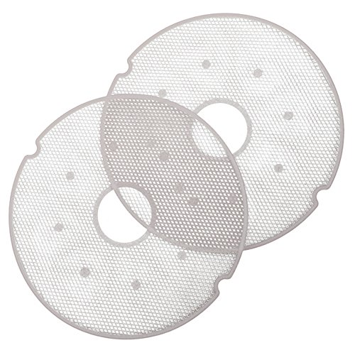 Nesco 4 Tray Food Dehydrator - Nesco LM-2-6 Clean-A-Screen Tray for Dehydrators FD-28JX/FD-37/FD-60/FD-61/FD-61WHC/FD-75A and FD-75PR, Set of 2