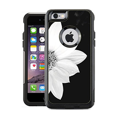 Protective Designer Vinyl Skin Decals for OtterBox Commuter iPhone 6 / 6S Case / Cover - Sunflower Black And White Design Pattern - Only SKINS and NOT Case - by - Case Decals Iphone