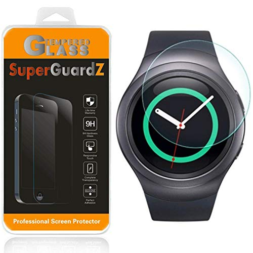 - [2-Pack] for Samsung Gear Sport/Gear S2 / Gear S2 Classic Screen Protector [Tempered Glass], SuperGuardZ, 9H, 0.3mm, 2.5D Round Edge [Lifetime Replacement] + LED Stylus Pen