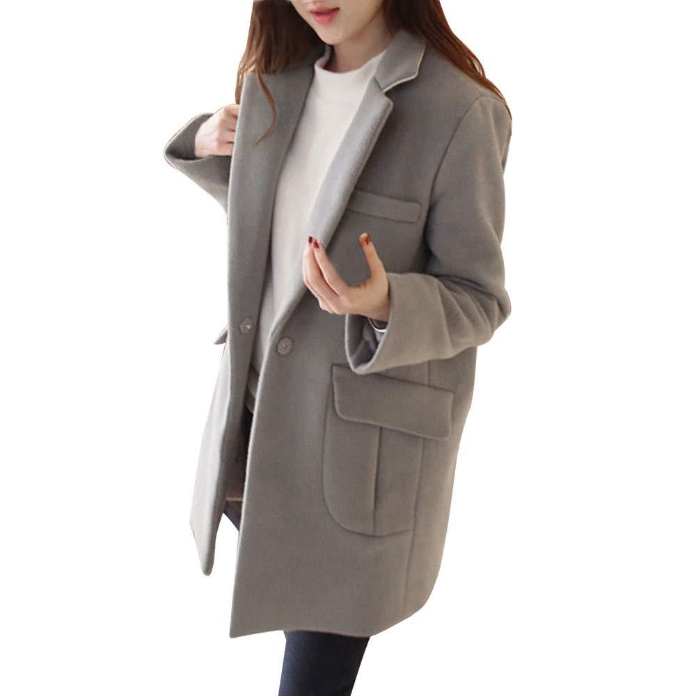 Luckycat Chaqueta para Mujer De Manga Larga Casual Chaqueta Lady Coat Jumper Knitwear Tapas Superiores: Amazon.es: Ropa y accesorios