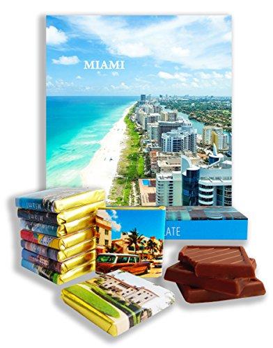 DA CHOCOLATE Candy Souvenir MIAMI Chocolate Gift Set 5x5in 1 box (Day - Falls The Miami Map